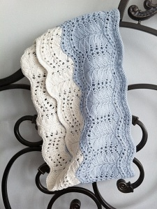 Iris - fern lace loop scarf