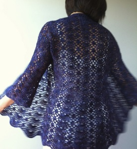 lacy shells cardigan